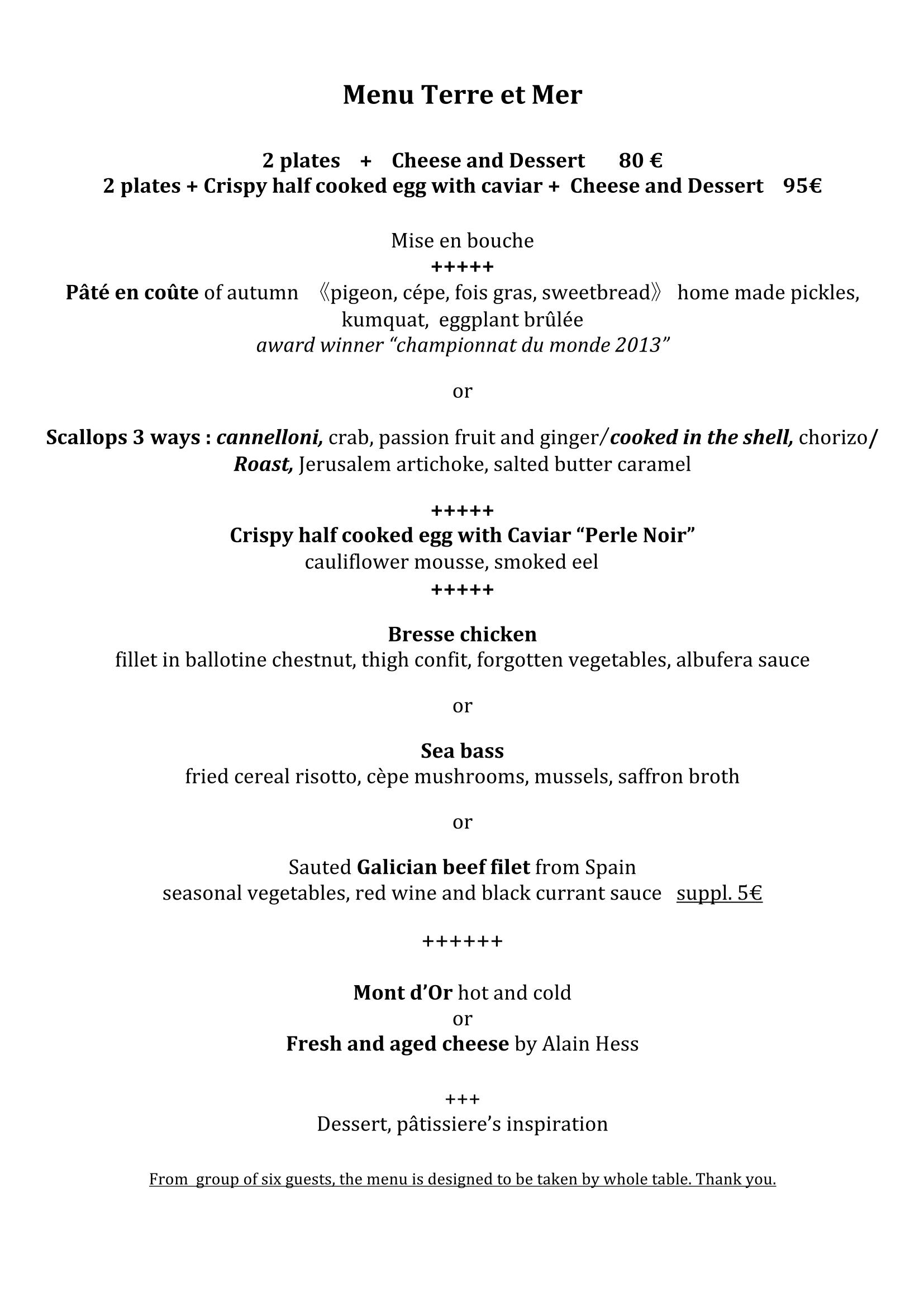 menu  u0026 carte  english   u2013 restaurant le benaton